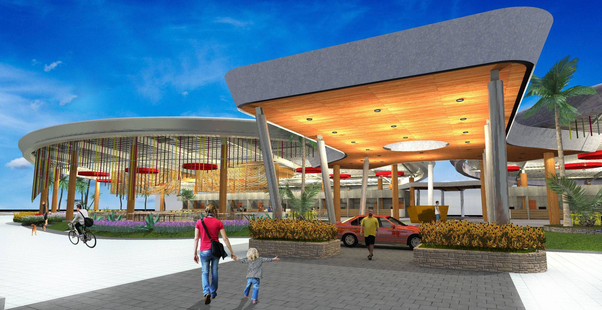 Tau Architect Foodcity At Golf Island Pluit North Jakarta, Indonesia North Jakarta, Indonesia Front-View Modern  3653