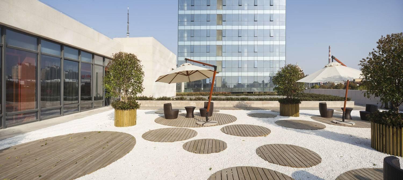Tau Architect Qidong Commerical Shanghai ,china Shanghai ,china Outdoor Seating Area Tropis  4820