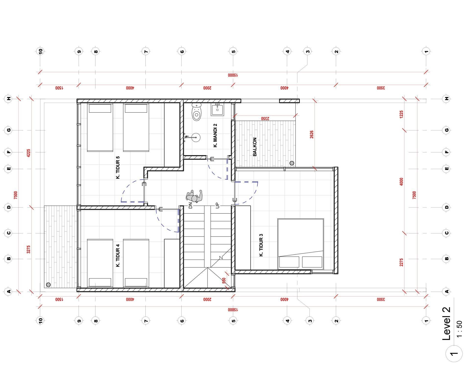 Nico Gowindra Ss-House Bsd - Tangerang Bsd - Tangerang Denah Kontemporer,modern  3791