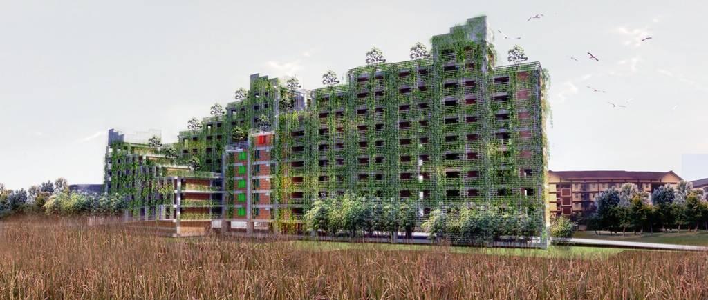 Akanoma Yu Sing Apartemen Rakyat Cingised Bandung, Indonesia Bandung, Indonesia Side-View-2 Tropis  7123
