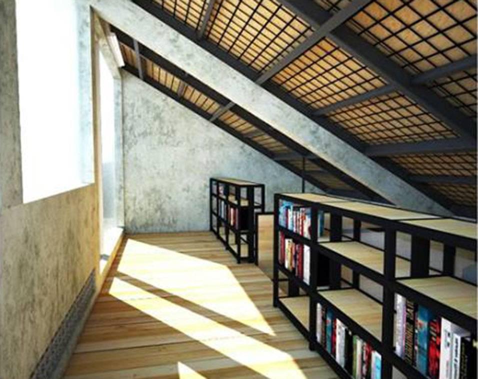 Akanoma Yu Sing Rumah Kecil At Ozone Residence Bintaro, South Jakarta, Indonesia Bintaro, South Jakarta, Indonesia Rencana-Tahap-2-Library Industrial  3936