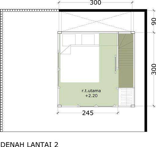 Akanoma Yu Sing Rumah Kayu 07 At Malang East Java East Java Denah-Lantai-2-Kamar-Tidur-Utama Minimalis  4112