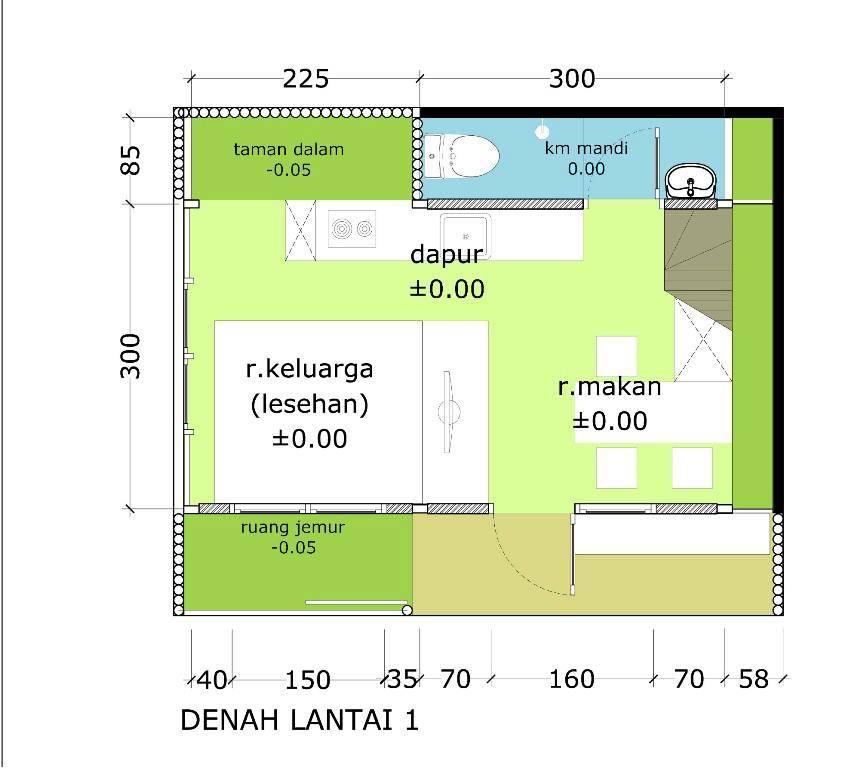 Akanoma Yu Sing Rumah Kayu 07 At Malang East Java East Java Denah-Tumbuh-Lantai1 Minimalis  4113