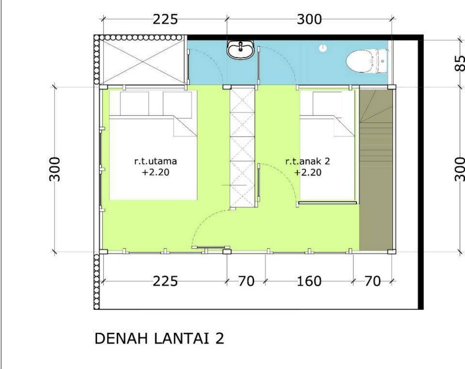 Akanoma Yu Sing Rumah Kayu 07 At Malang East Java East Java Denah-Tumbuh-Lantai2 Minimalis  4114