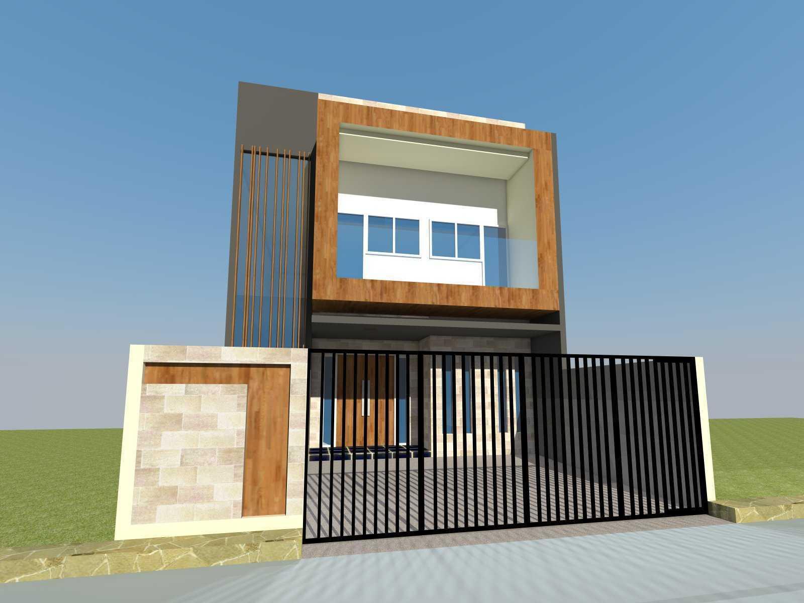 Equator.architect Minimalist House At Citra 2 Jakarta, Indonesia Jakarta, Indonesia Front View Minimalis  19629