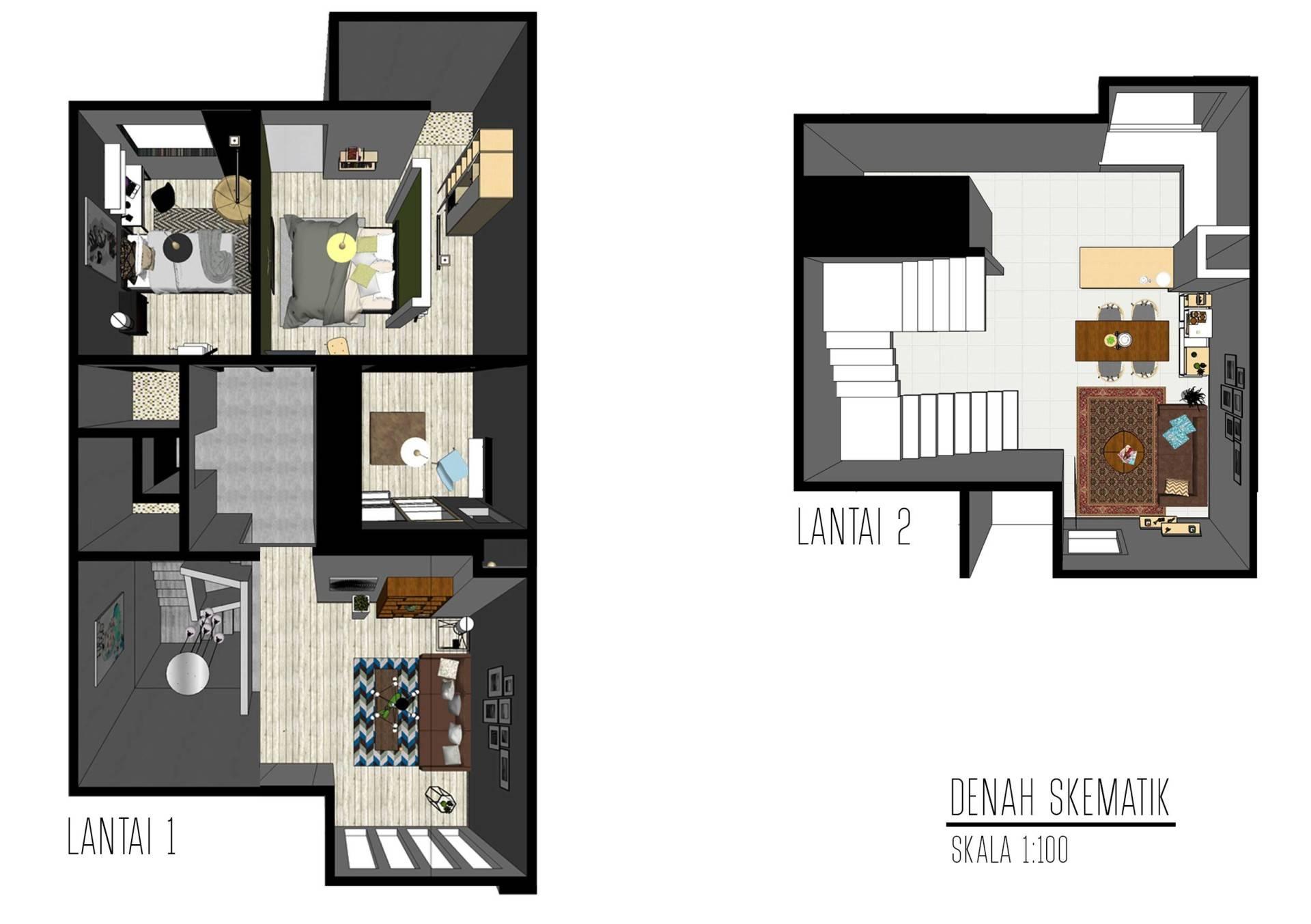 Snrg Studio Bali Modernette Fatmawati, Jakarta Selatan Fatmawati, Jakarta Selatan Denah-Bali   4071