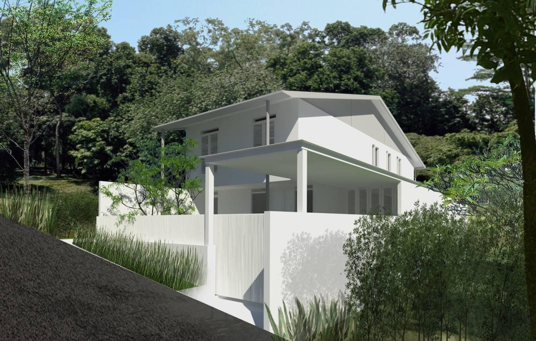 Ads Architect Cisitu House North Bandung, West Java, Indonesia North Bandung, West Java, Indonesia Front View Modern  4230
