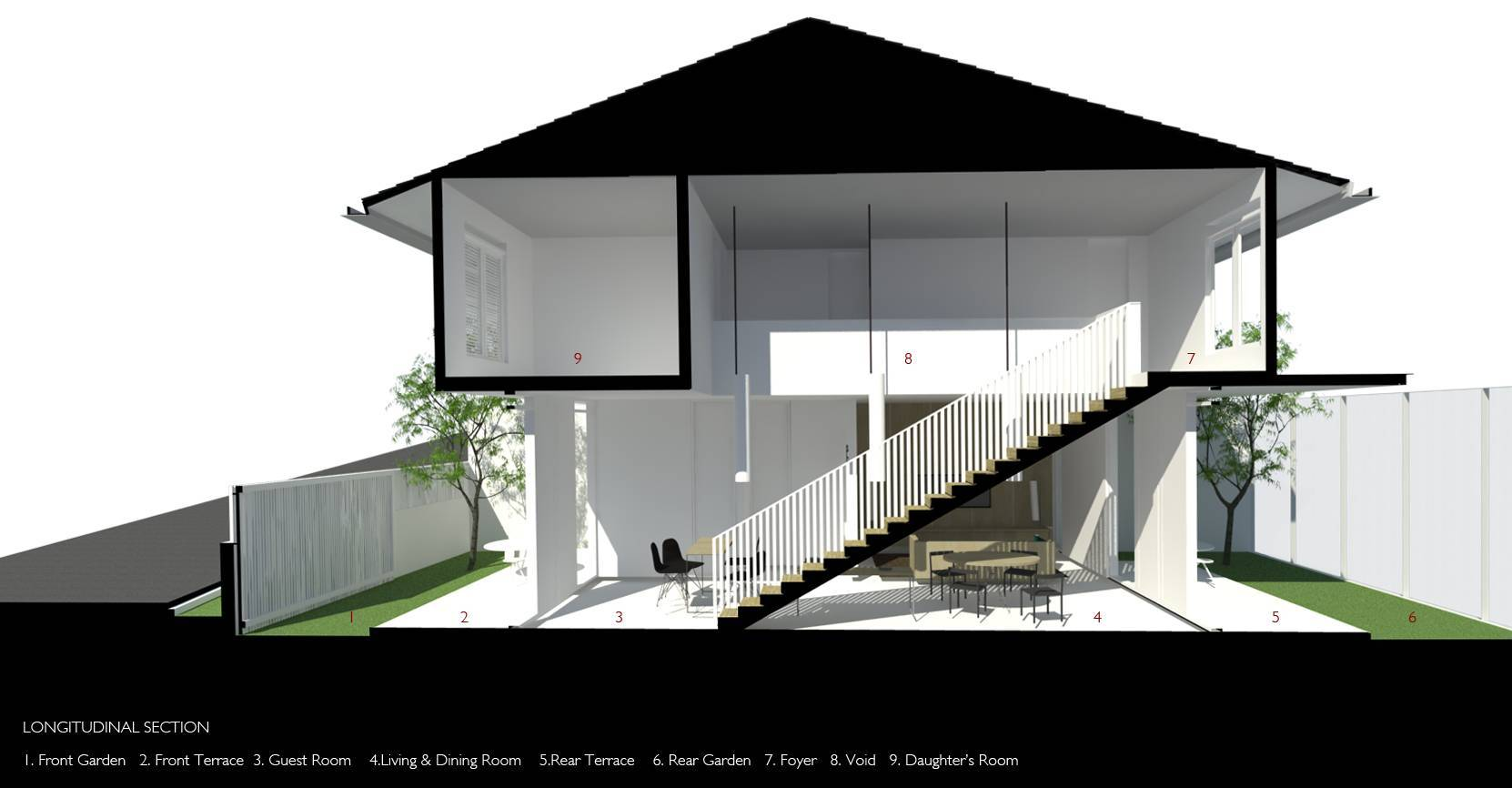 Ads Architect Cisitu House North Bandung, West Java, Indonesia North Bandung, West Java, Indonesia Side View Modern  4234