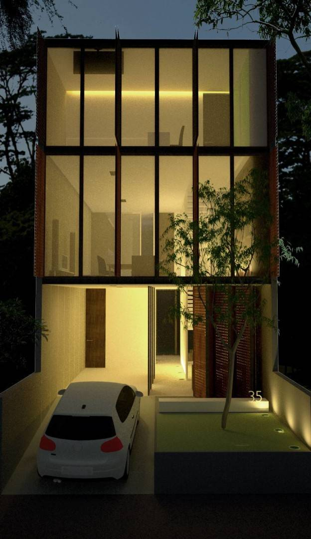 Ads Architect Mekarwangi House 'wall & Slab House' South Bandung, West Java, Indonesia South Bandung, West Java, Indonesia Perspective-1-Windows-Opened Modern,tropis  4264