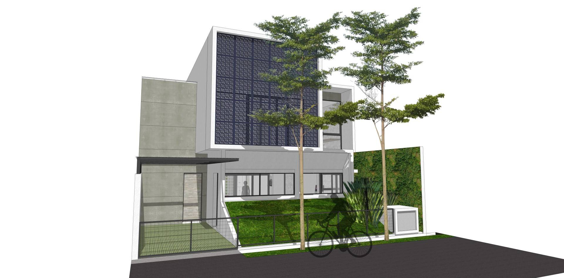 Dadan Adriansyah Rfs House Depok Depok Front View  Exterior Will Be Finished With Equitone Facade Material, And The Screen-Panel Is Painted Lasercut-Grc. 4862