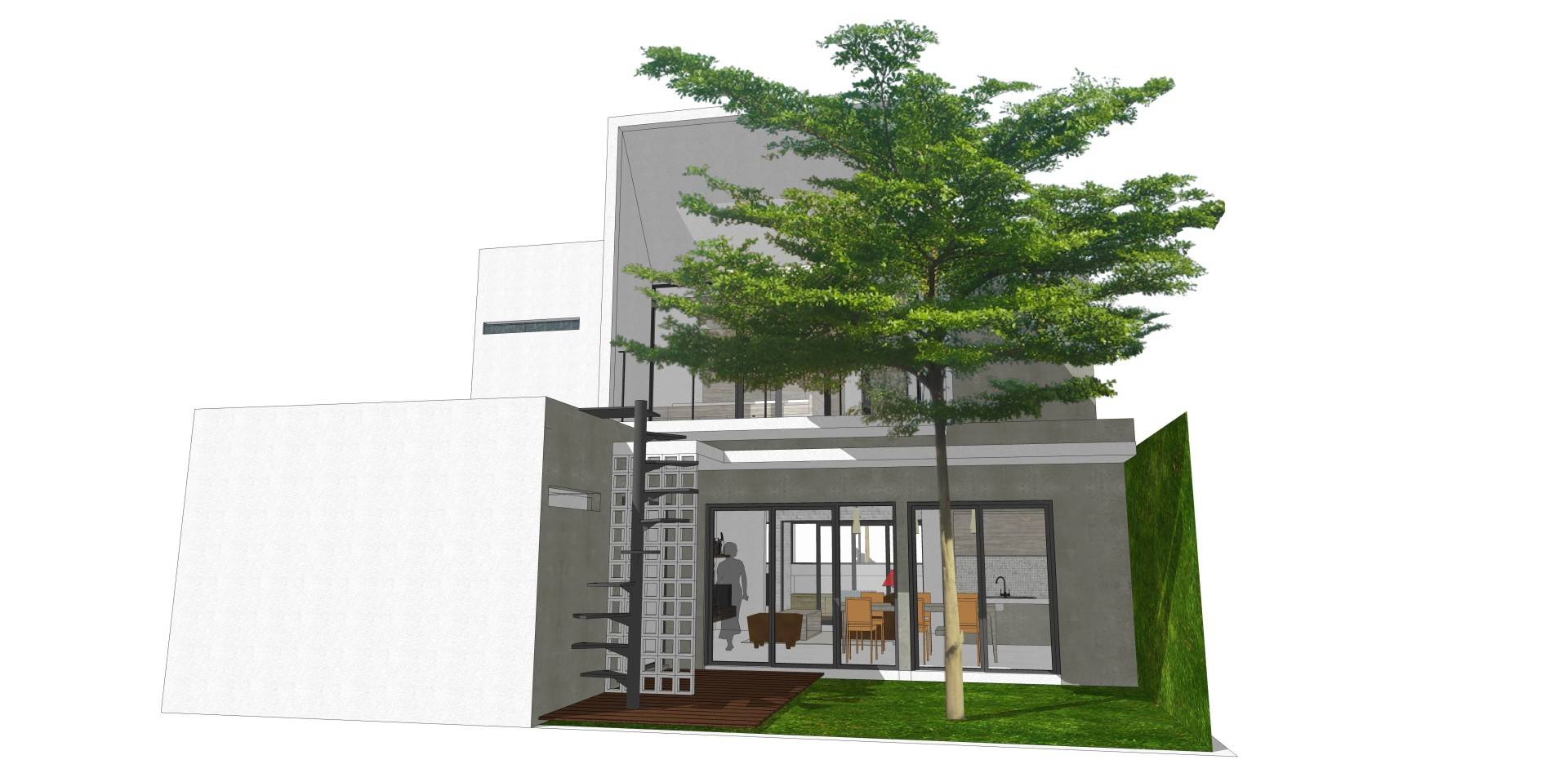 Dadan Adriansyah Rfs House Depok Depok Rear View  Ample Open Area To Provide Cross Air Circulation And Plenty Of Sunlight 4864