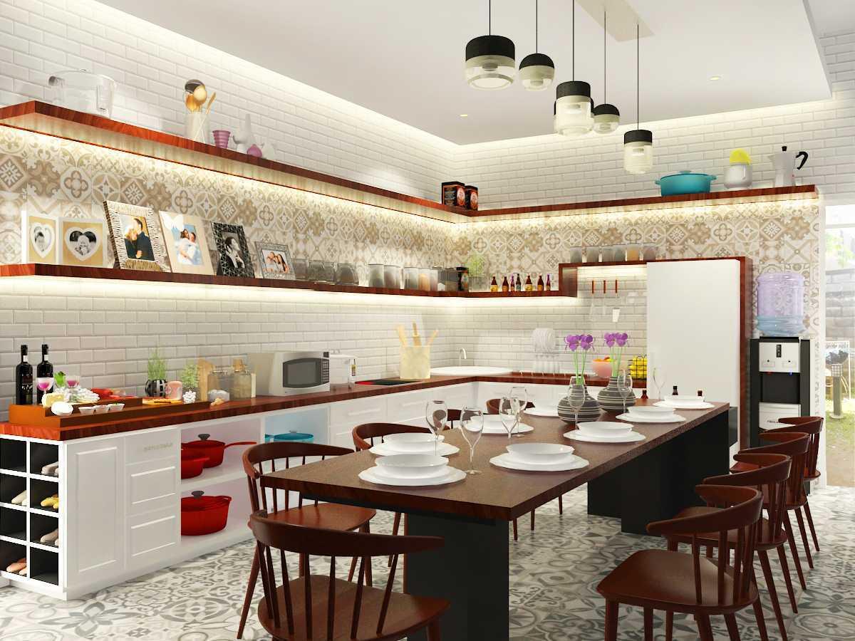 Miv Architects (Ar. Muhammad Ikhsan Hamiru, Iai & Partners) Bedroom & Kitchen Design  Polewali Mandar, Sulawesi Selatan Polewali Mandar, Sulawesi Selatan Dining Room Industrial  22418