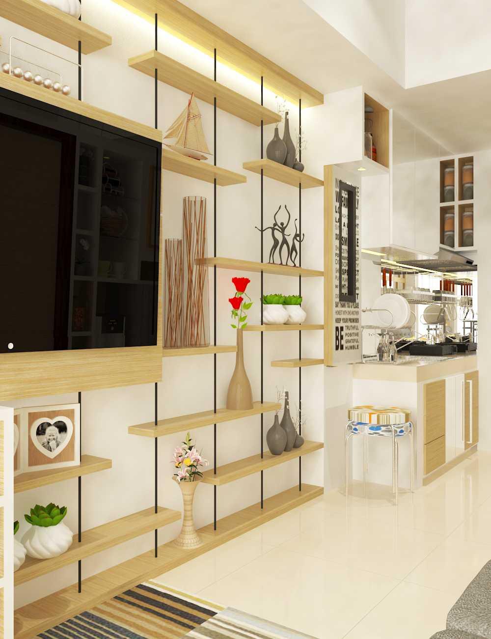 Miv Architects (Ar. Muhammad Ikhsan Hamiru, Iai & Partners) Interior Design Of Apartment Unit Makassar, South Sulawesi, Indonesia Makassar, South Sulawesi, Indonesia Apartment Room Design Kontemporer  29130