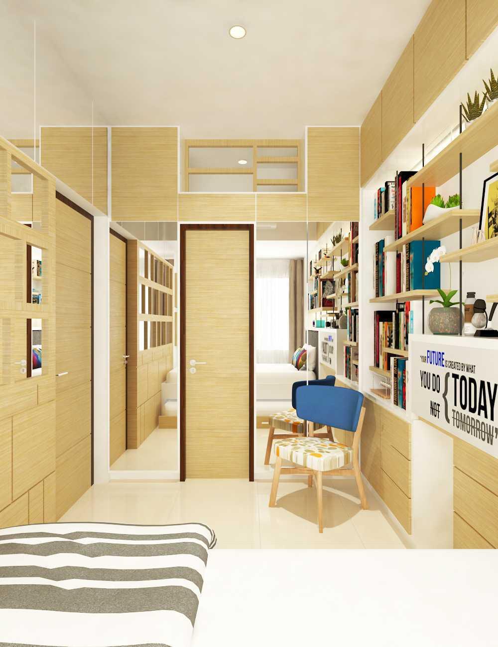 Miv Architects (Ar. Muhammad Ikhsan Hamiru, Iai & Partners) Interior Design Of Apartment Unit Makassar, South Sulawesi, Indonesia Makassar, South Sulawesi, Indonesia Apartment Room Design Skandinavia  29134
