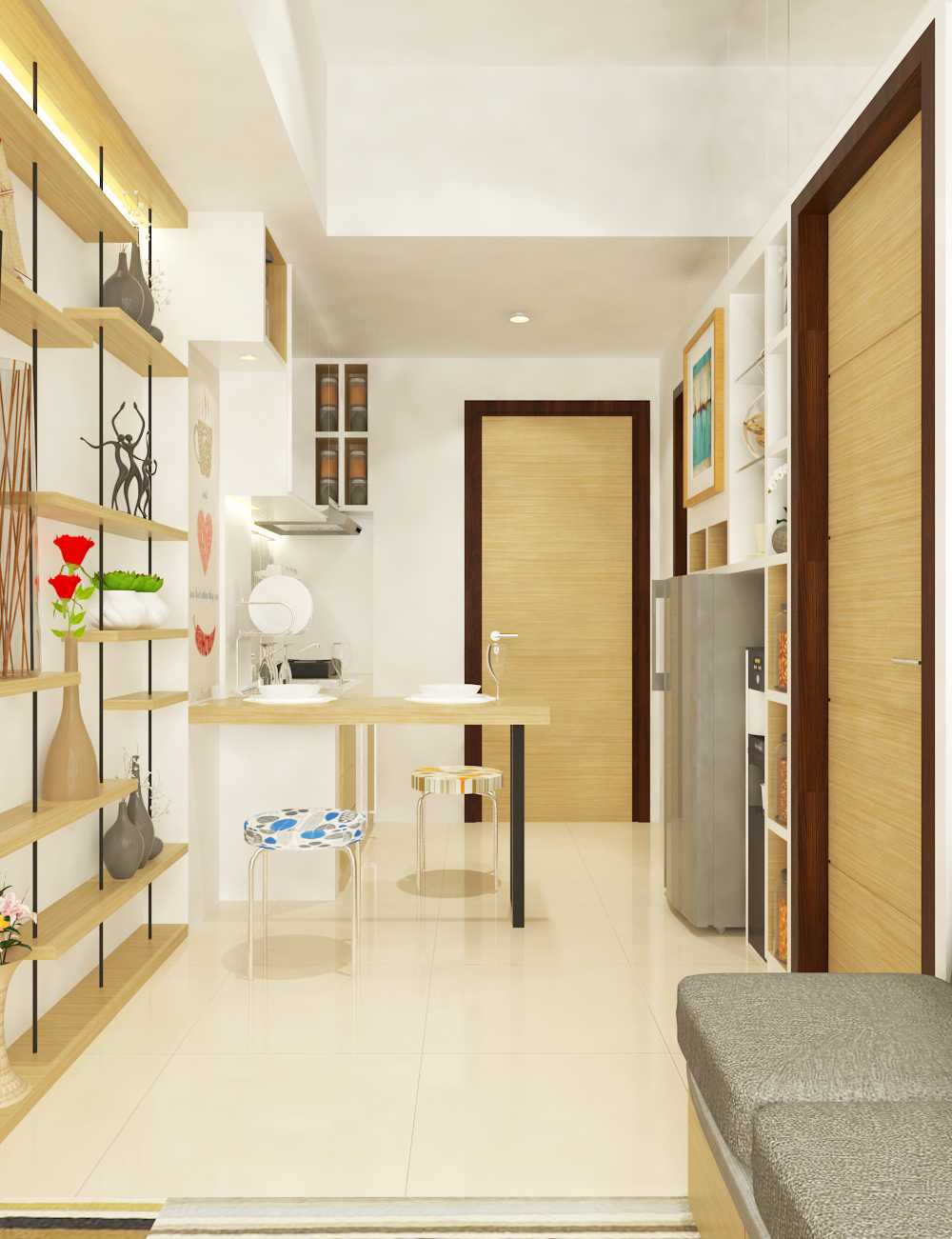 Miv Architects (Ar. Muhammad Ikhsan Hamiru, Iai & Partners) Interior Design Of Apartment Unit Makassar, South Sulawesi, Indonesia Makassar, South Sulawesi, Indonesia Apartment Room Design Skandinavia  29139