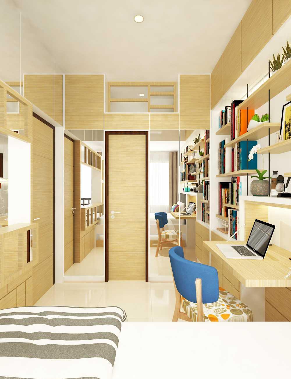 Miv Architects (Ar. Muhammad Ikhsan Hamiru, Iai & Partners) Interior Design Of Apartment Unit Makassar, South Sulawesi, Indonesia Makassar, South Sulawesi, Indonesia Apartment Room Design Skandinavia  29145
