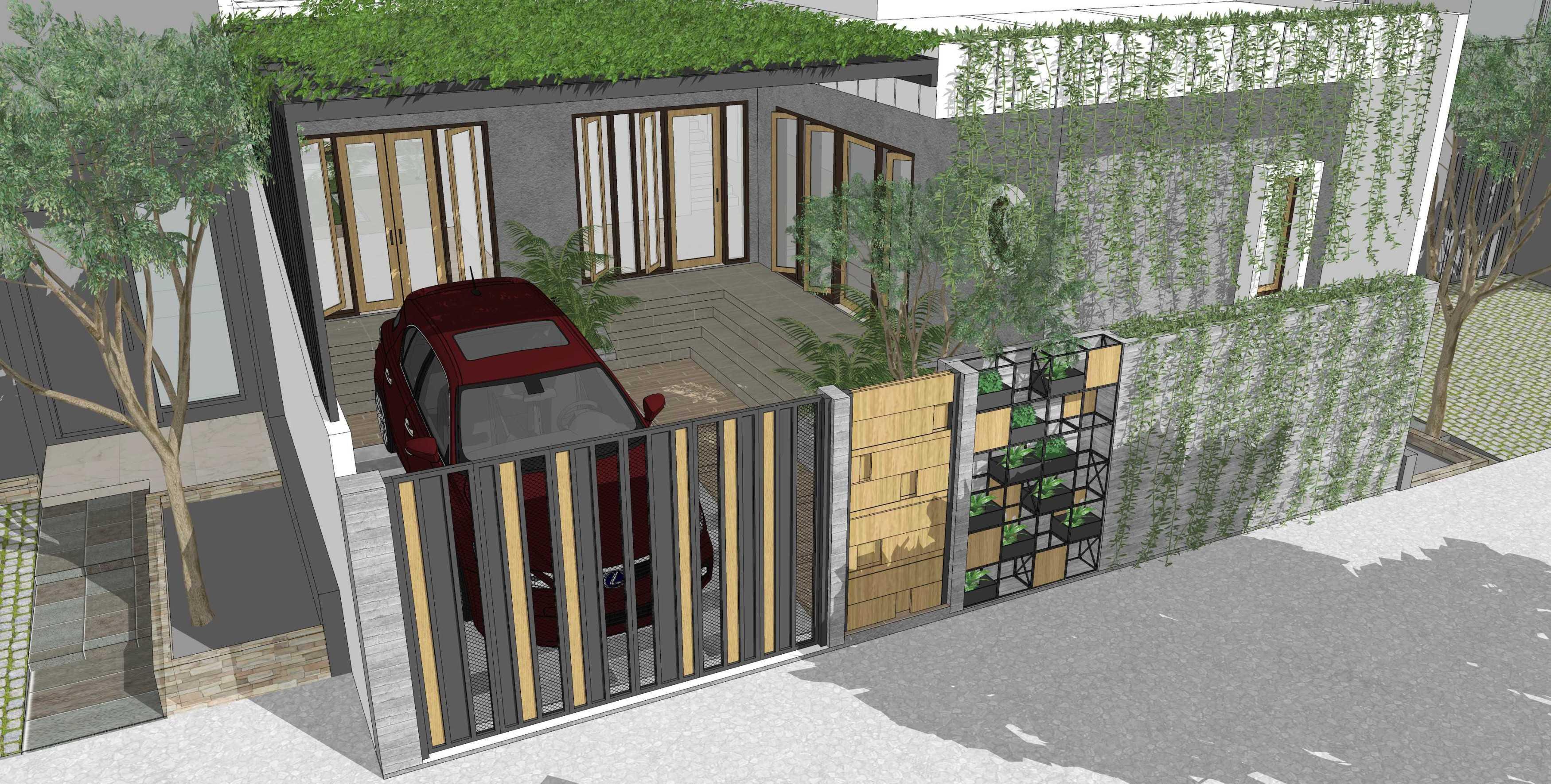 Miv Architects (Muhammad Ikhsan Hamiru, St., Iai & Partners) Oemah Ema Kabupaten Bantaeng, Sulawesi Selatan, Indonesia Kabupaten Bantaeng, Sulawesi Selatan, Indonesia Oemah Ema - Side View Minimalis  42355
