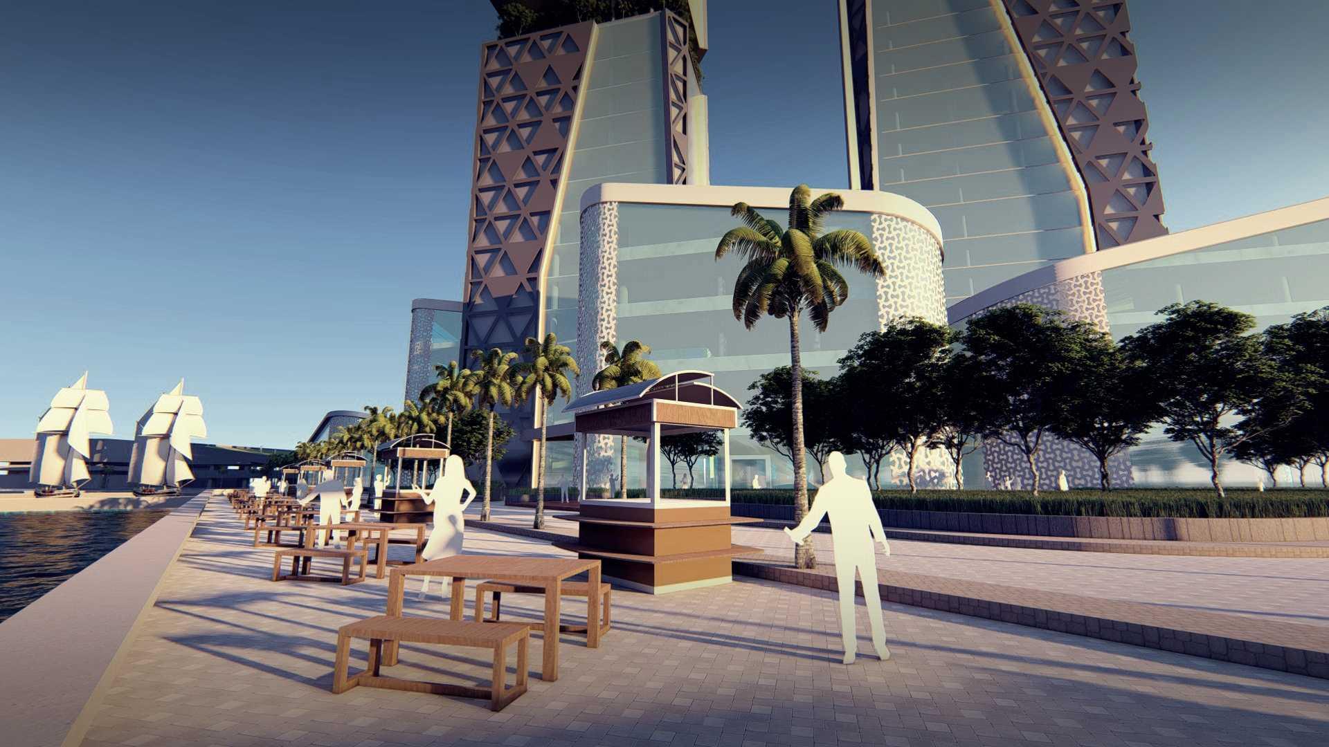 Miv Architects (Ar. Muhammad Ikhsan Hamiru, Iai & Partners) 1St Winner Of New Balaikota Makassar City & Dprd Office Design Competition Kota Makassar, Sulawesi Selatan, Indonesia Kota Makassar, Sulawesi Selatan, Indonesia Exterior View Modern  48015