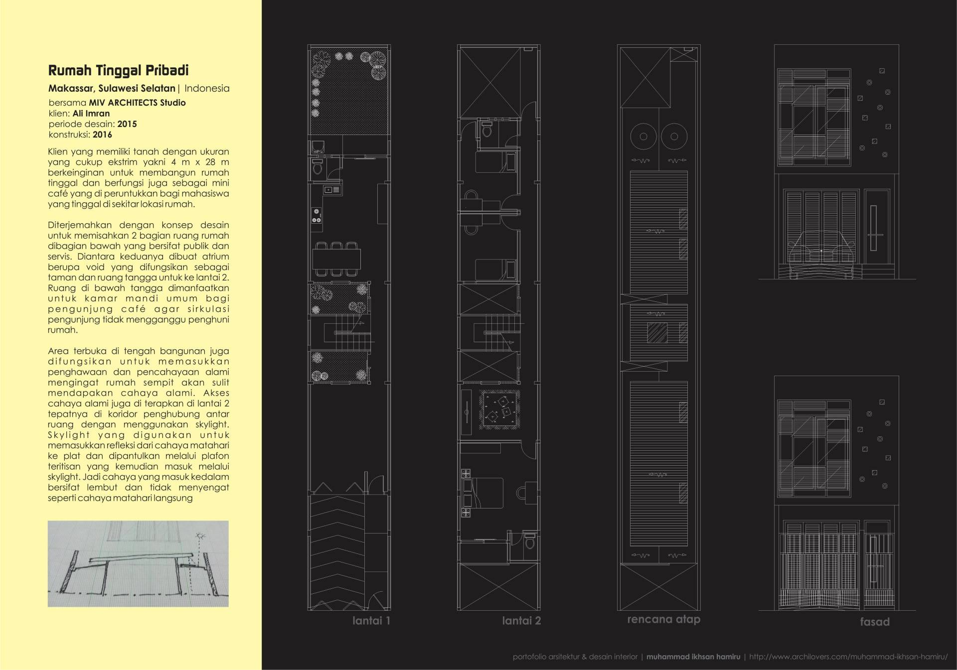 Miv Architects (Ar. Muhammad Ikhsan Hamiru, Iai & Partners) Home & Mini Office Makassar, Sulawesi Selatan, Indonesia Makassar, Sulawesi Selatan, Indonesia Plan Modern,minimalis  5018
