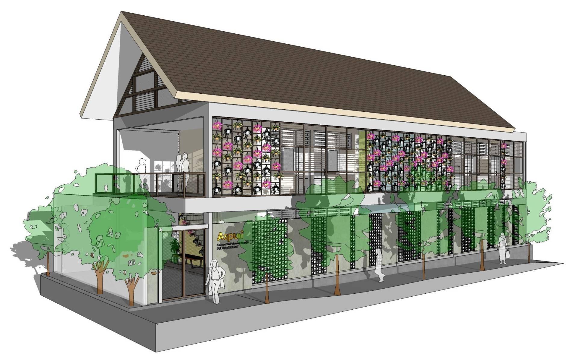 Miv Architects (Ar. Muhammad Ikhsan Hamiru, Iai & Partners) Asrama Mahasiswa Polewali Mandar Di Makassar | With Pt.dap Makassar, Sulawesi Selatan, Indonesia Makassar, Sulawesi Selatan, Indonesia Facade Tropis,modern  5022