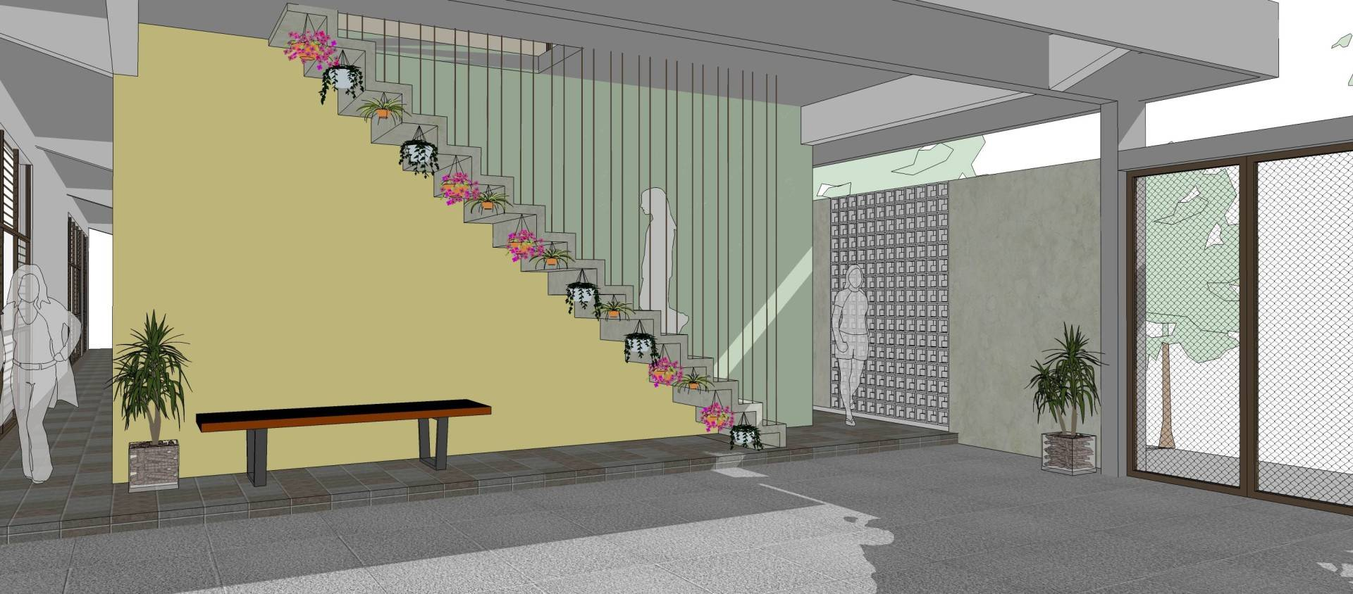 Miv Architects (Ar. Muhammad Ikhsan Hamiru, Iai & Partners) Asrama Mahasiswa Polewali Mandar Di Makassar   With Pt.dap Makassar, Sulawesi Selatan, Indonesia Makassar, Sulawesi Selatan, Indonesia Stairs Modern, Tropis  5025