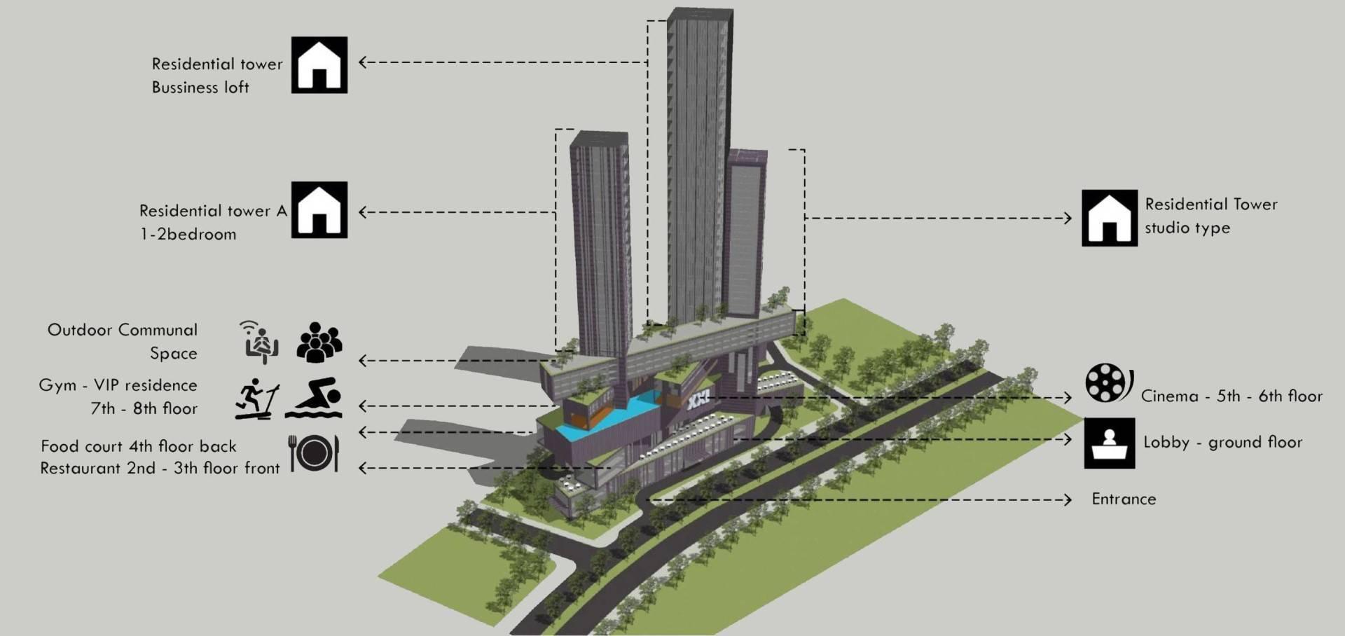 Monokroma Architect Platinum Condominium South Tangerang, Banten South Tangerang, Banten Concept Modern  6841