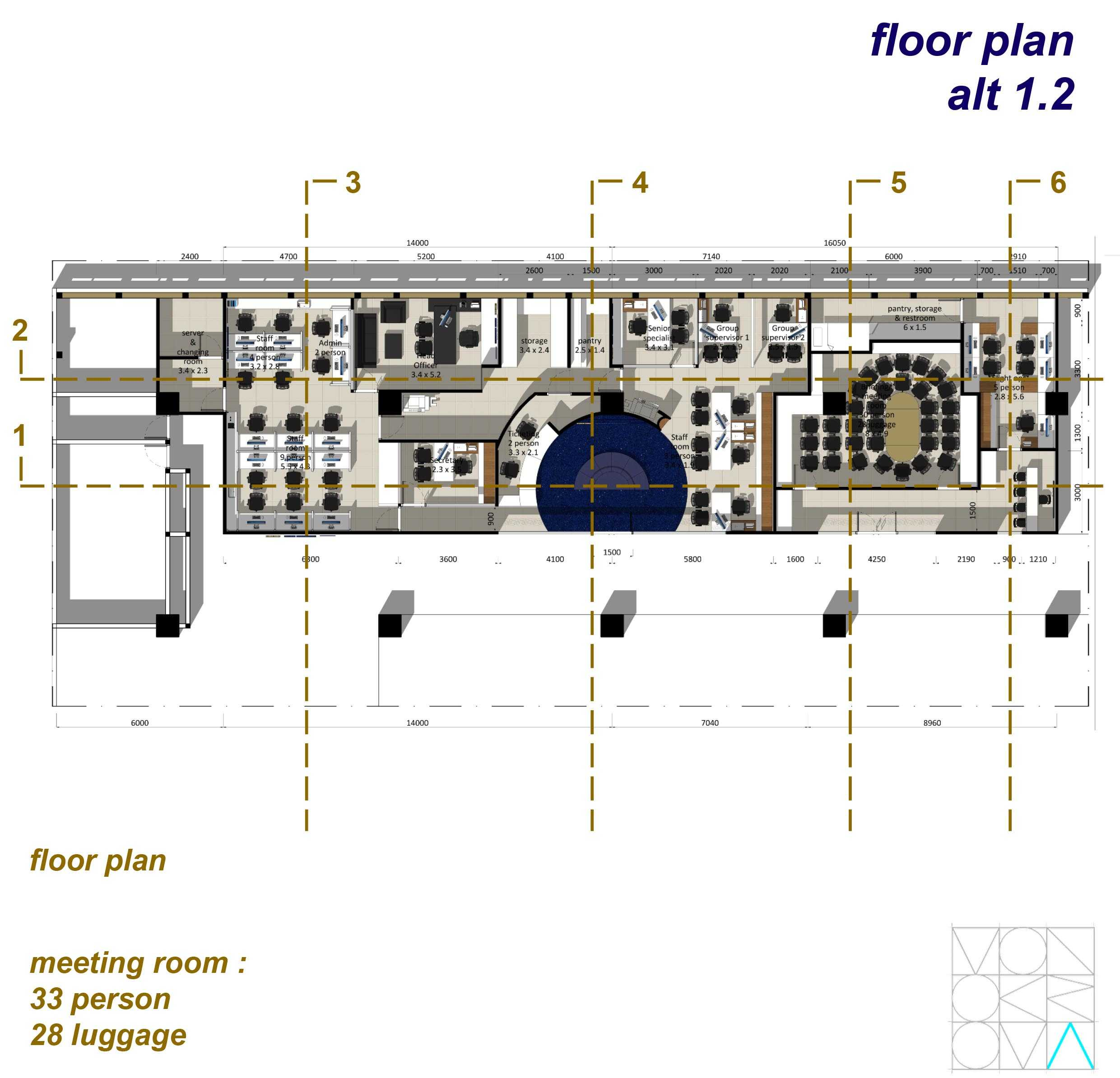 Monokroma Architect Saudi Arabian Airlines Office Soekarno Hatta Airport Terminal 3 Soekarno Hatta Airport Terminal 3 5-Floor-Plan-Alternative-1-2 Modern  14742