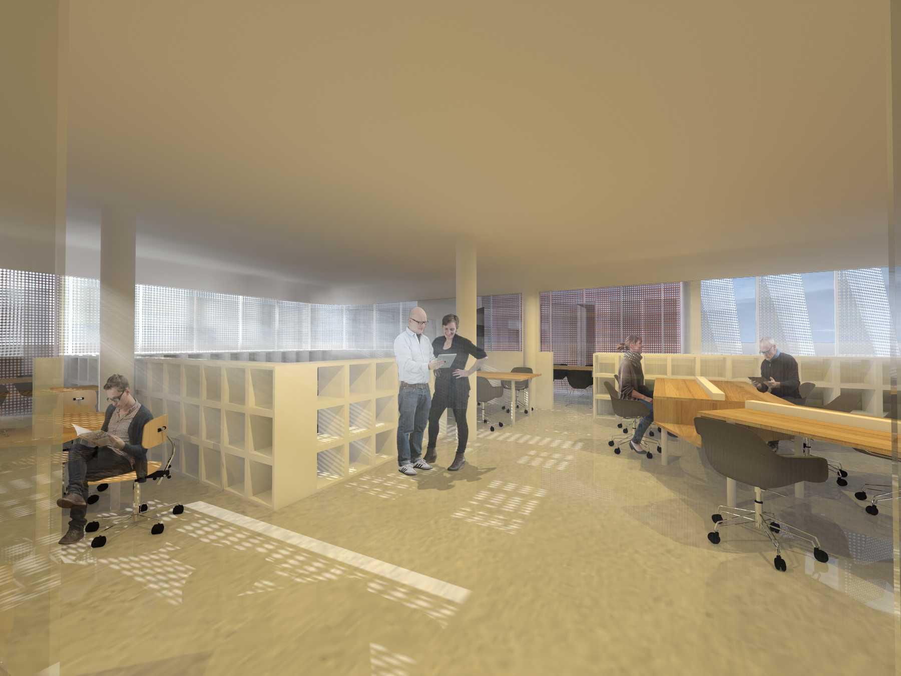 Monokroma Architect Eku Headquarter Jakarta Jakarta 6-Staff-Room Modern  14791
