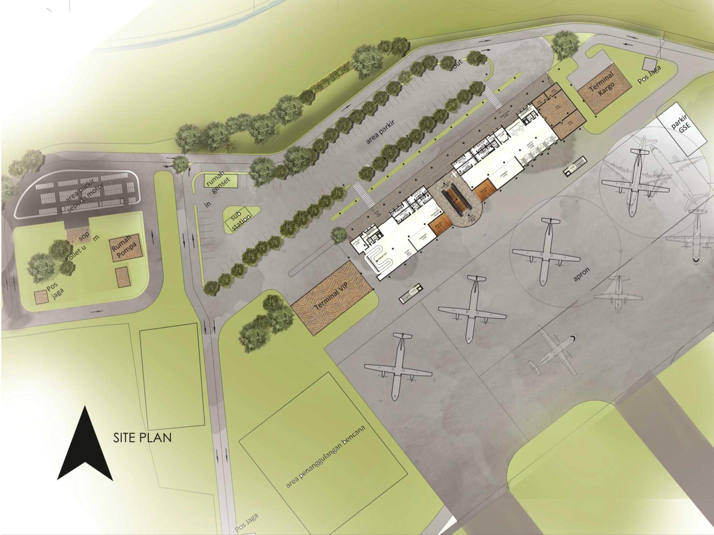 Monokroma Architect Mali Alor Airport  Alor, Ntt Alor, Ntt 5-Siteplan Kontemporer  14815