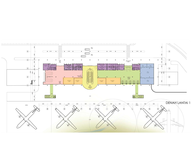 Monokroma Architect Mali Alor Airport  Alor, Ntt Alor, Ntt 6-Ground-Floor-Plan Kontemporer  14816