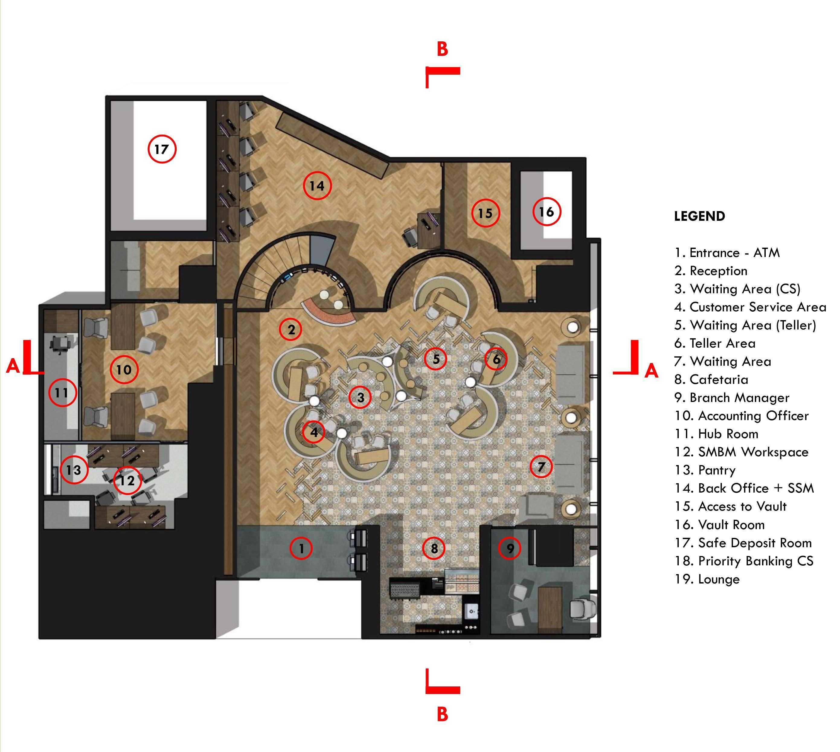 Monokroma Architect J Trust Bank Main Office  Jakarta Jakarta 1-Plan Modern  14868