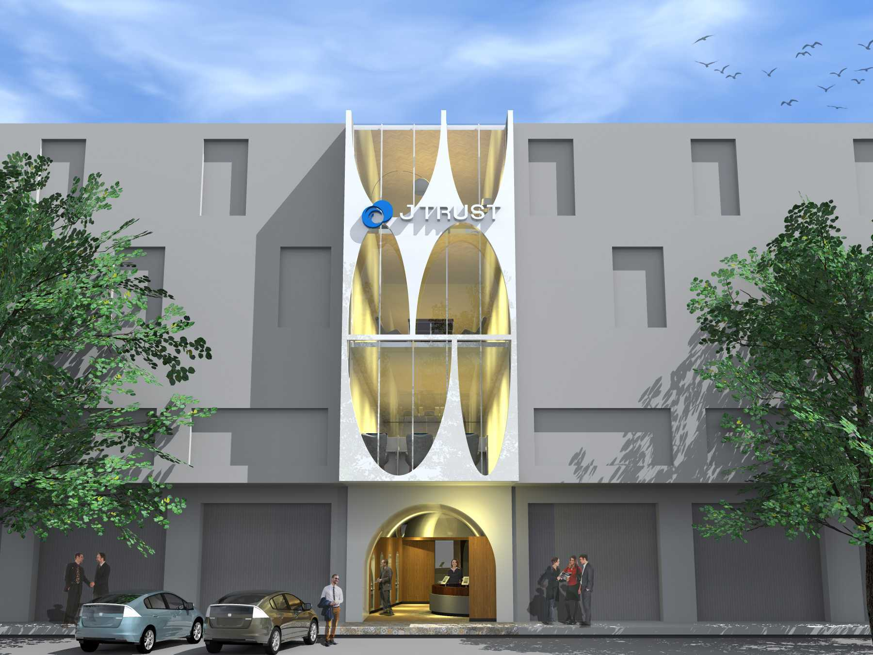 Monokroma Architect J Trust Bank Facade Jakarta Jakarta 16-Alternative-4-1 Modern  14896
