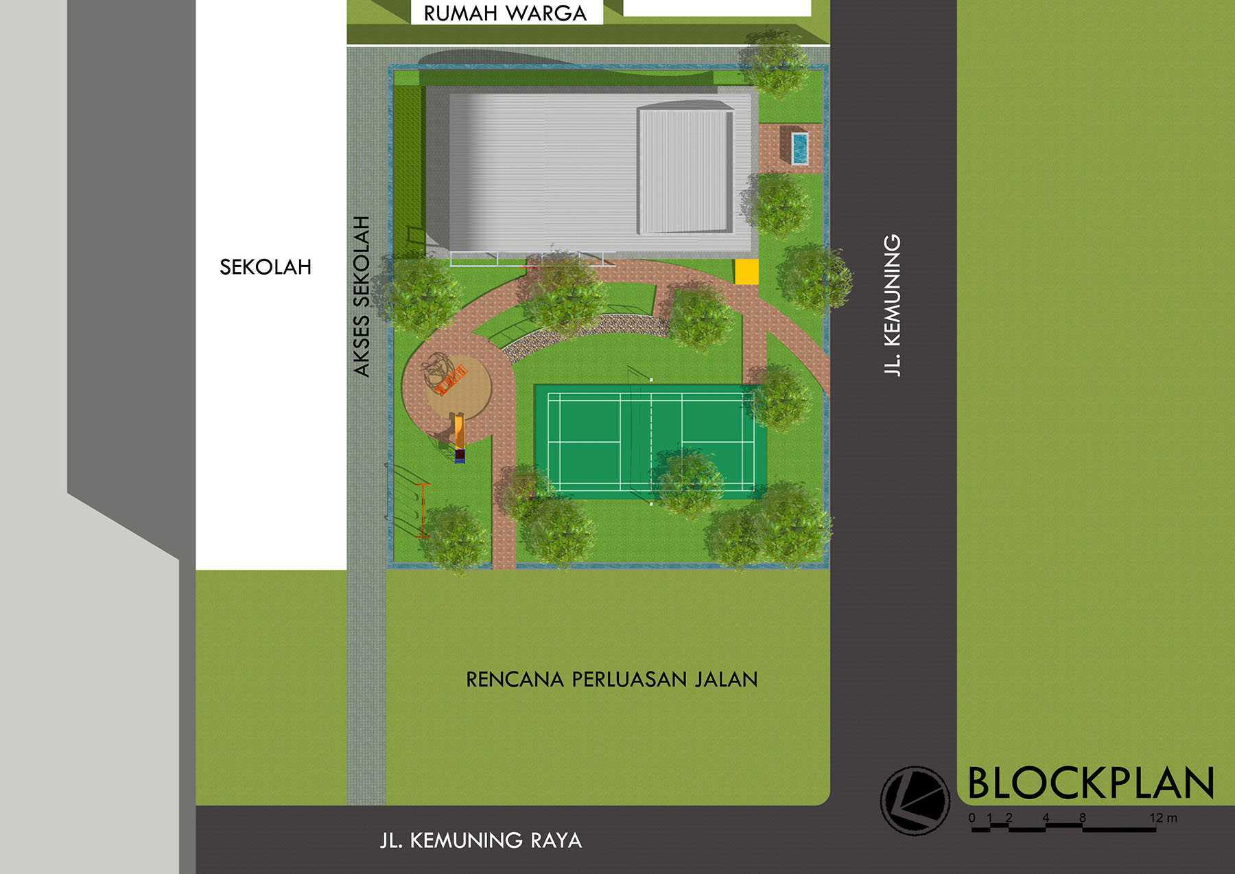 Monokroma Architect Rptra Kemuning Jakarta, Indonesia Jakarta, Indonesia 5-Block-Plan Minimalis  24675