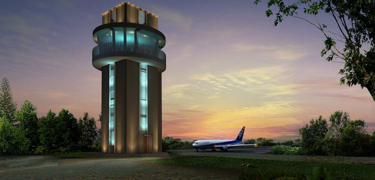 Monokroma Architect Labuan Bajo Airport Labuan Bajo Labuan Bajo Control Tower Modern  497