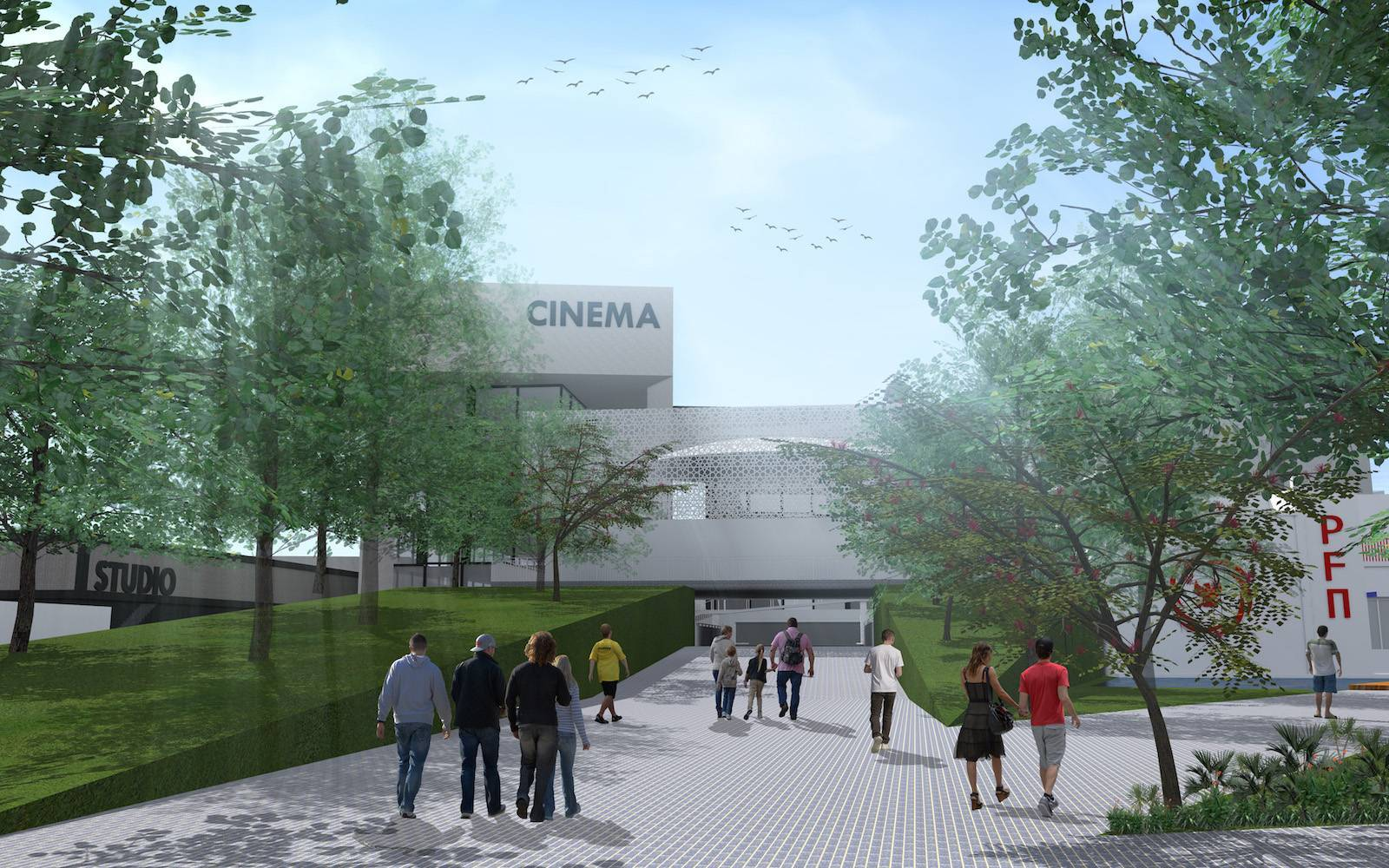 Monokroma Architect Pfn Movie Complex Jakarta Jakarta Entrance Modern  522