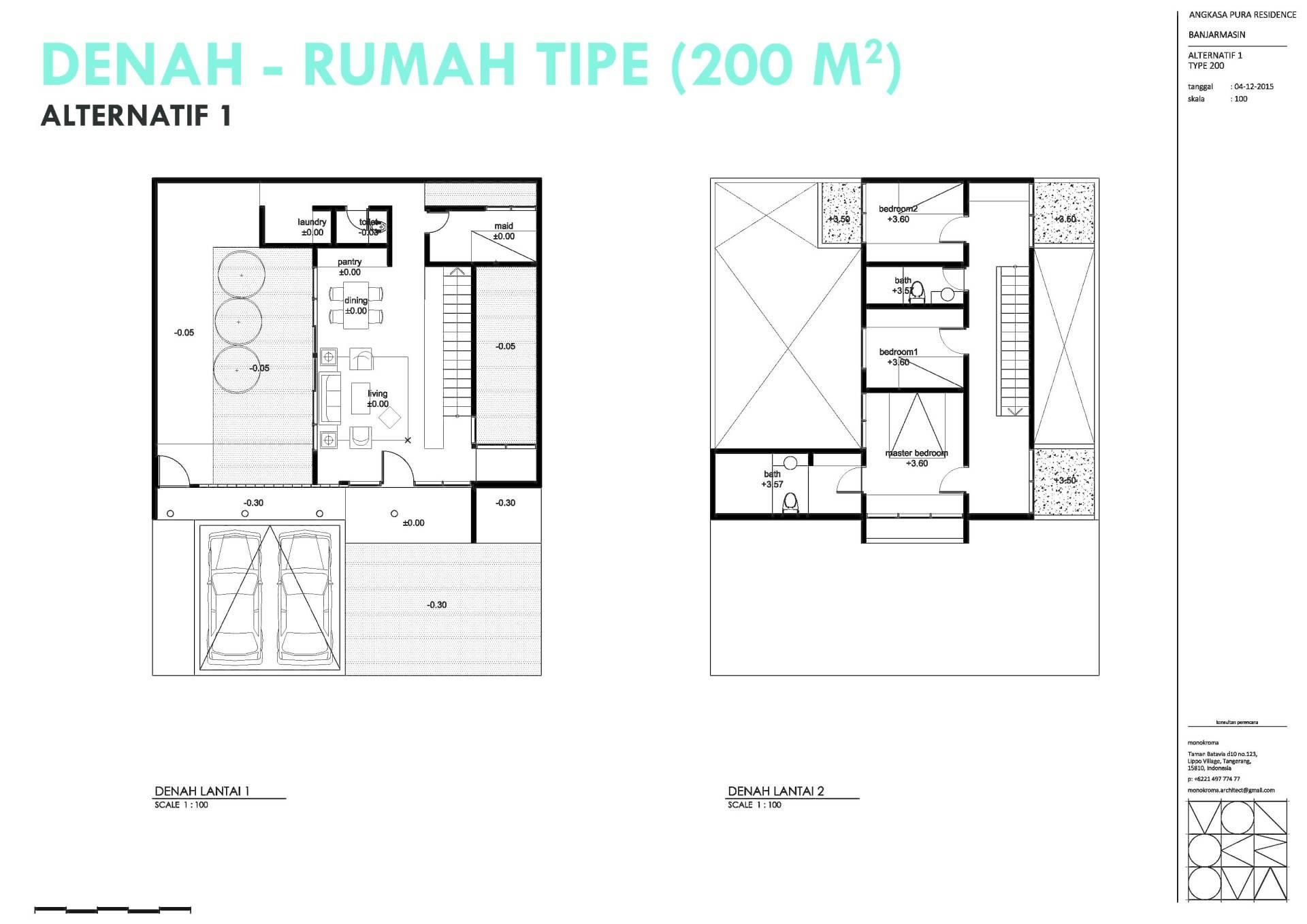 Monokroma Architect Banjarbaru Residence Indonesia Indonesia Denah Modern  573