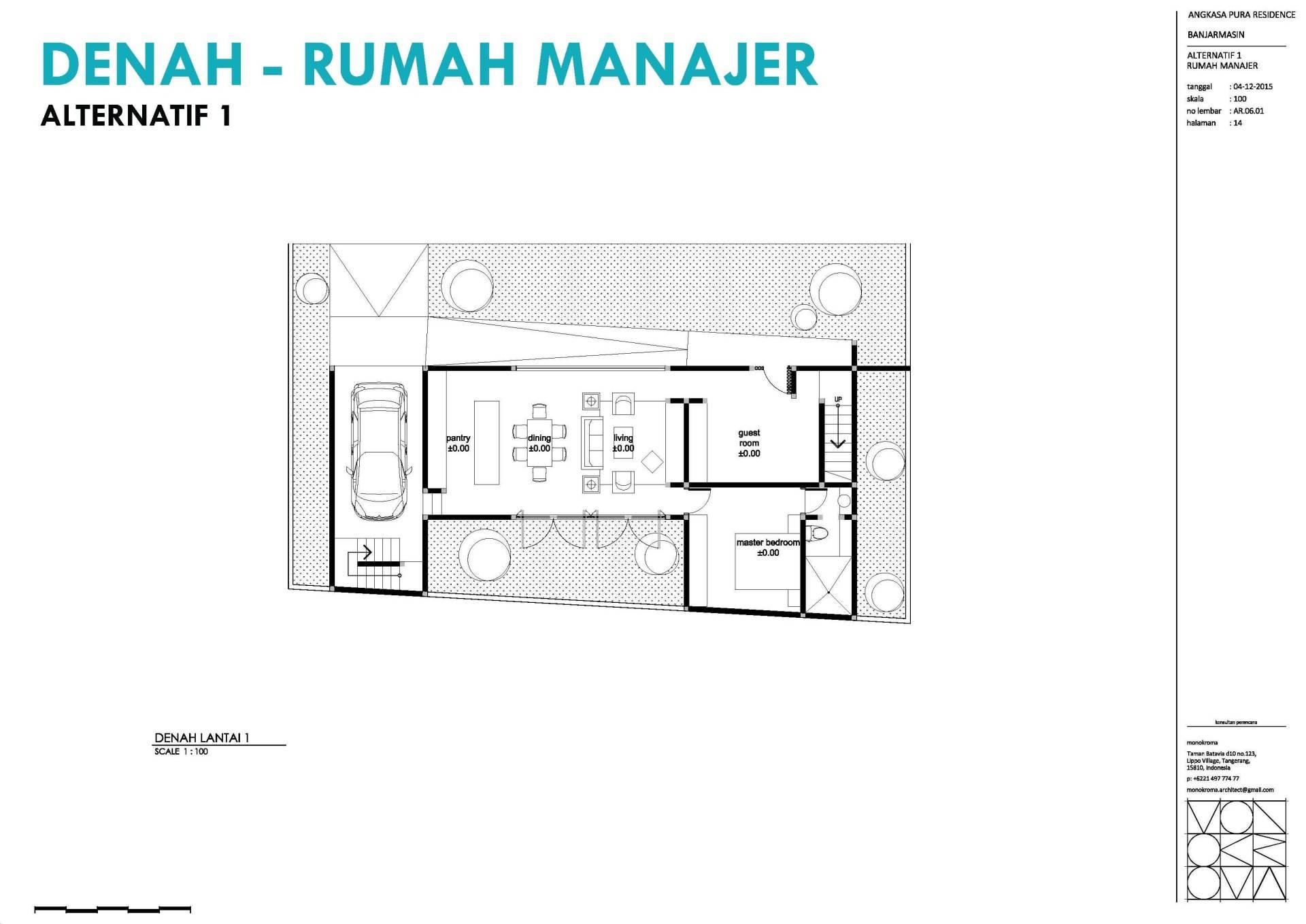 Monokroma Architect Banjarbaru Residence Indonesia Indonesia Denah Modern  575