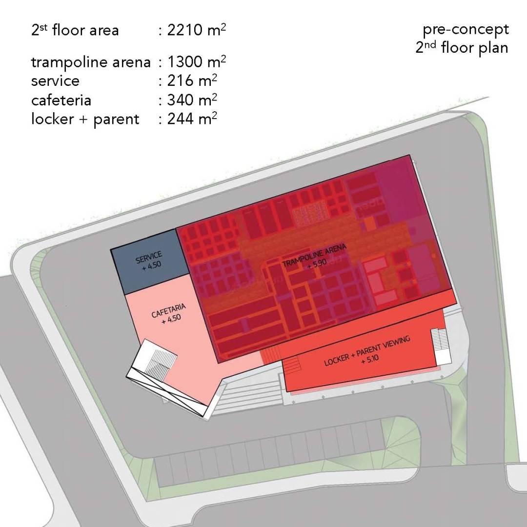 Monokroma Architect Trampoline Arena Serpong Serpong Pre-Concept-Trampoline-Arena Modern  598