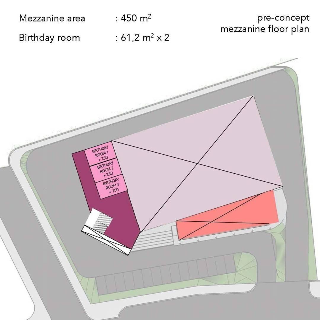 Monokroma Architect Trampoline Arena Serpong Serpong Pre-Concept-Trampoline-Arena Modern  599