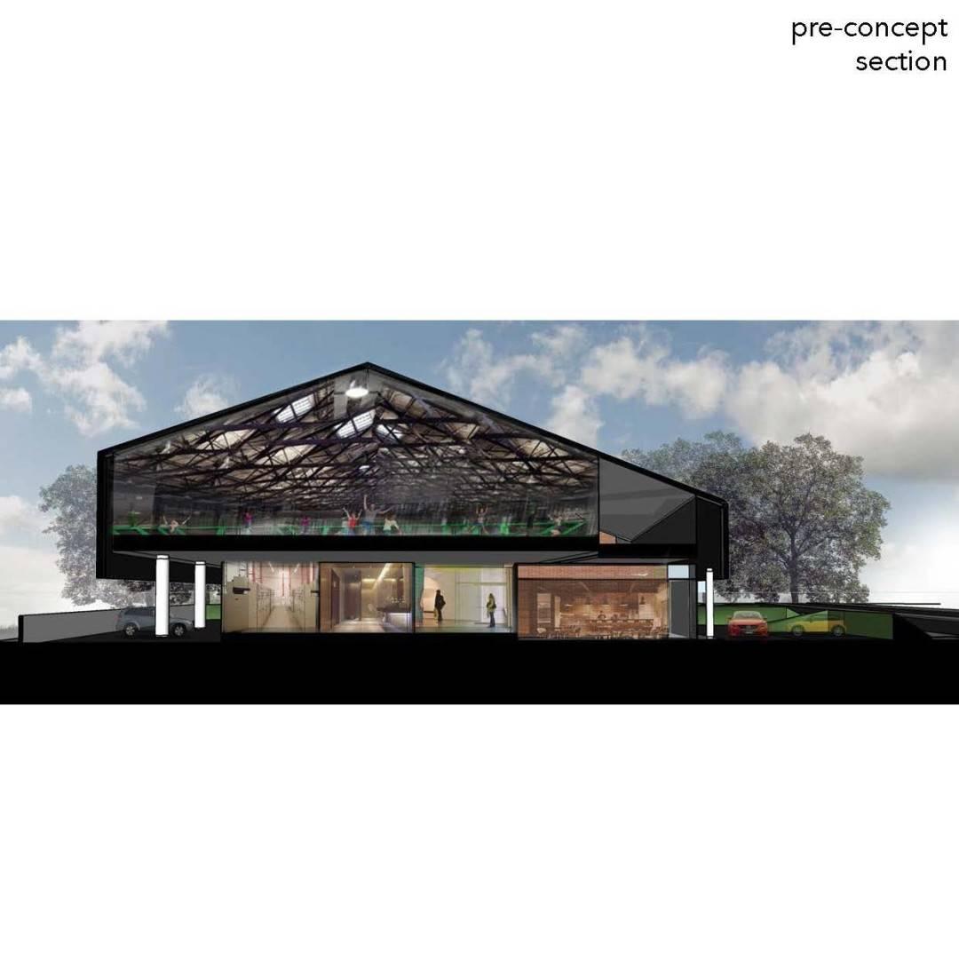 Monokroma Architect Trampoline Arena Serpong Serpong Facade Modern  601