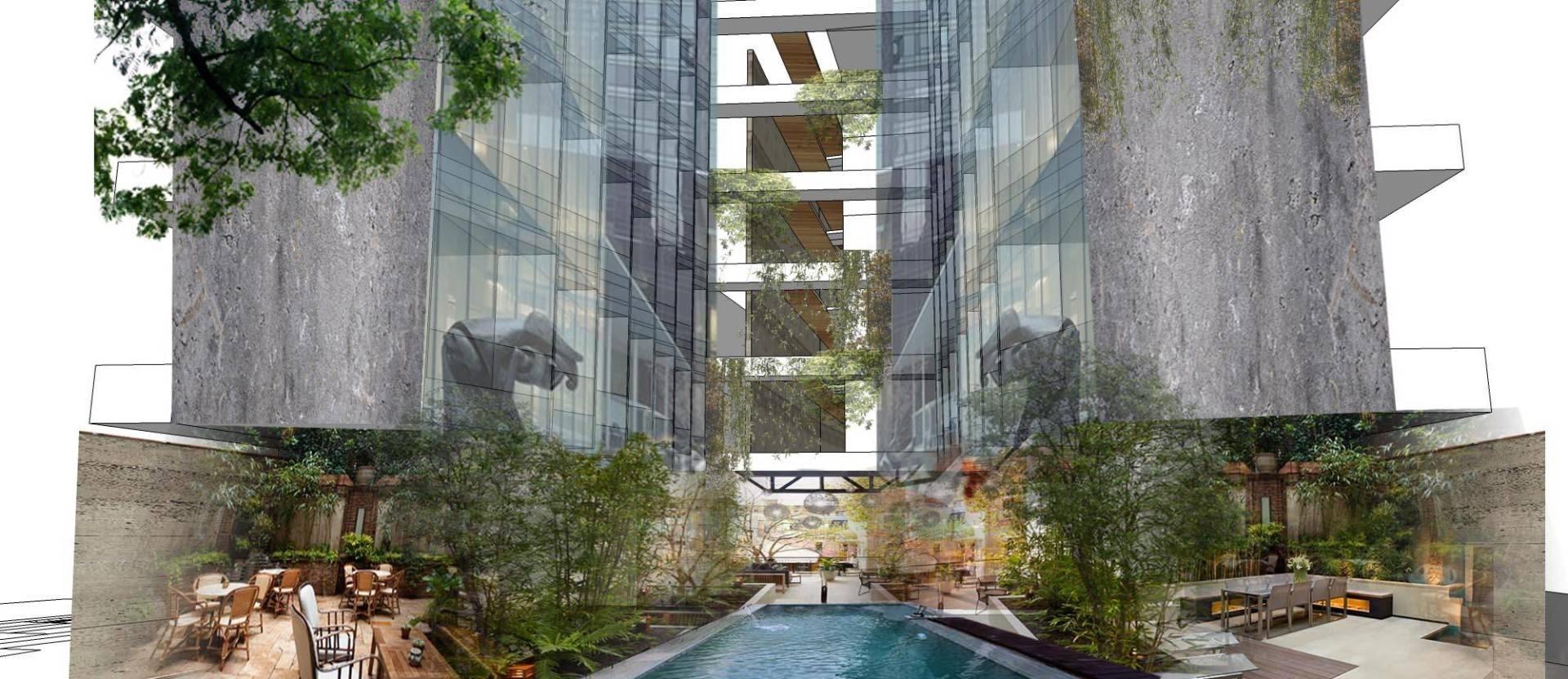 Monokroma Architect Hotel Lebak Bulus Lebak Bulus, Jakarta Lebak Bulus, Jakarta Swimming Pool Tropis  6226