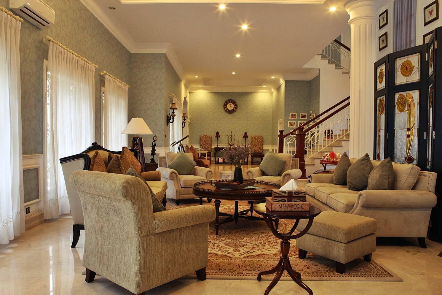 Emilia Oei Modern Collonial Medan, Indonesia Medan, Indonesia Living Room Klasik  5405