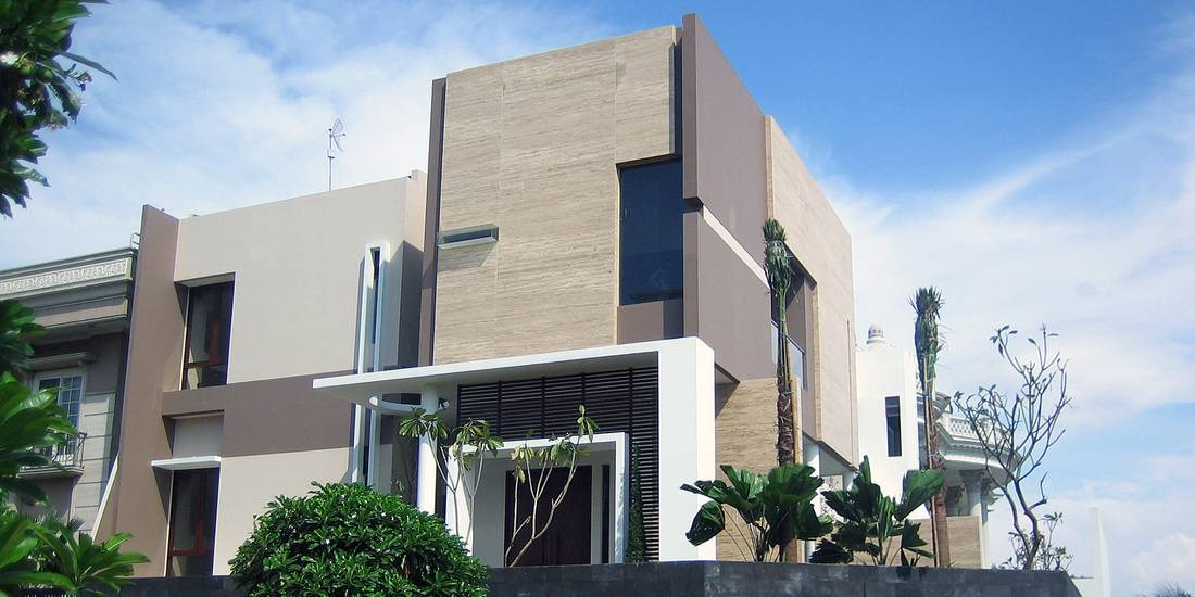 Herryj Architects Marble House  Jakarta, Indonesia Jakarta, Indonesia Facade-View   5443