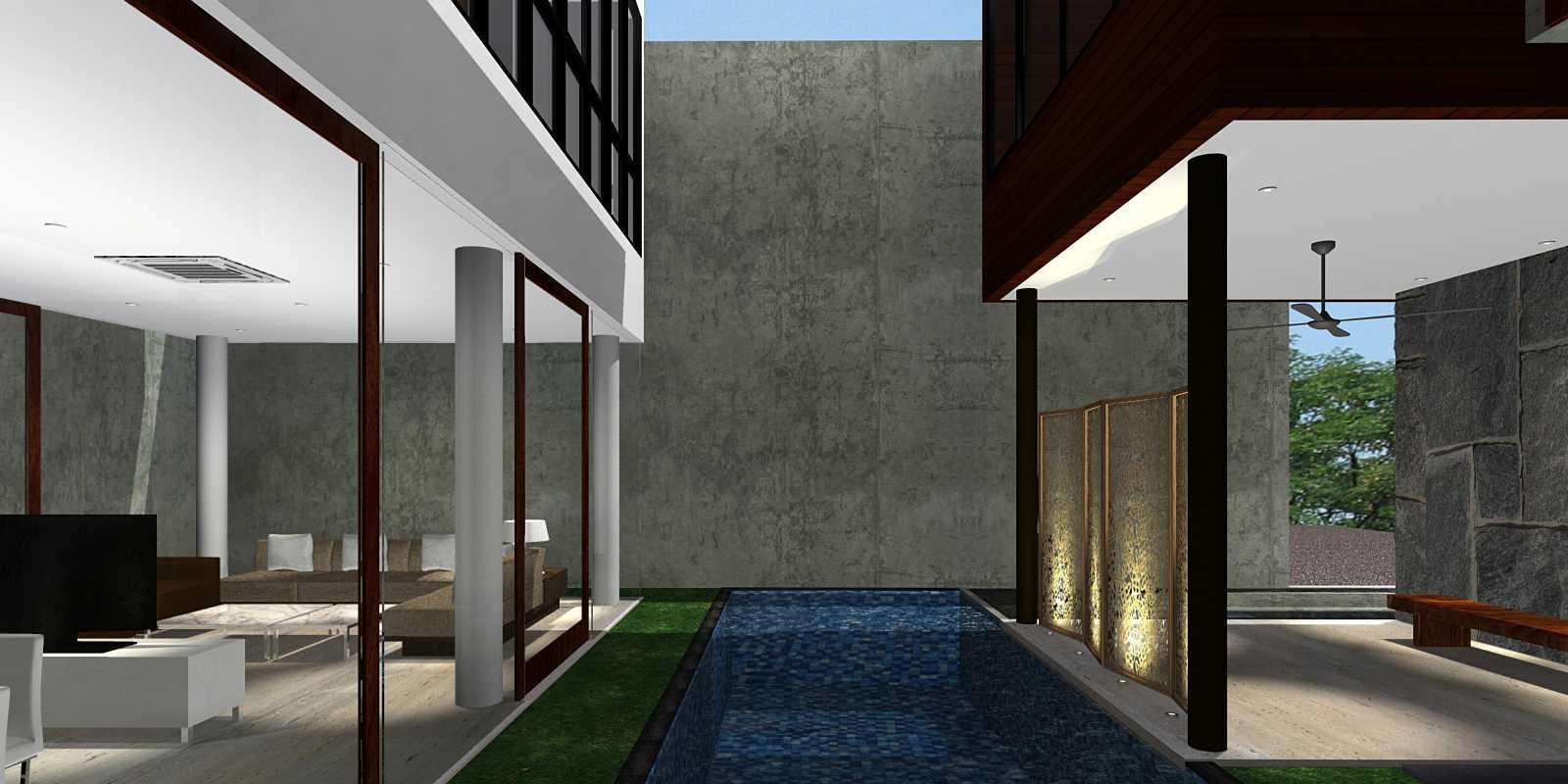 Herryj Architects Bridge House Jakarta, Indonesia Jakarta, Indonesia Terrace Minimalis  23906