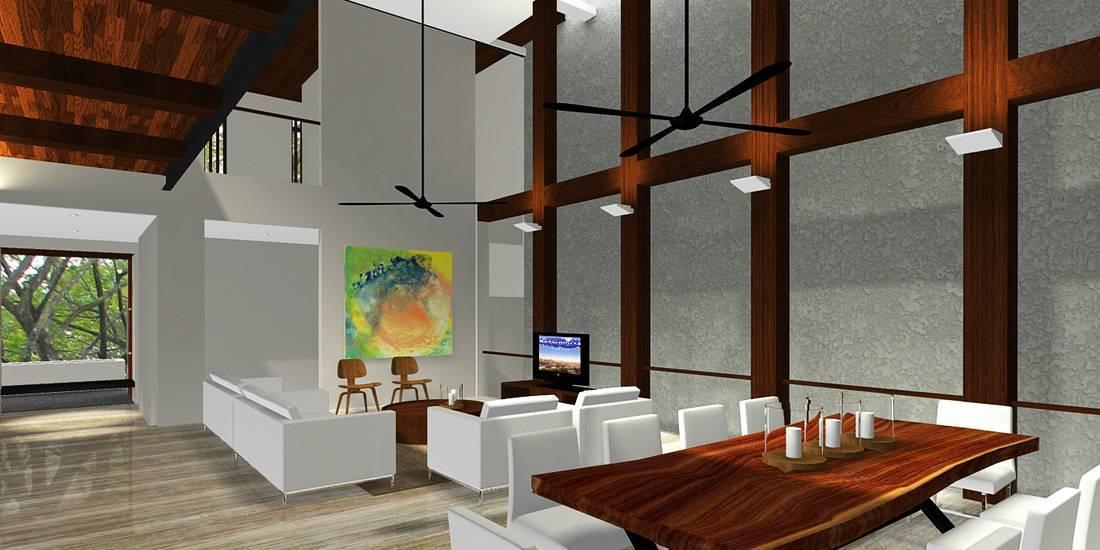 Herryj Architects Katamaran House Jakarta, Indonesia Jakarta, Indonesia Living-Room-2 Tropis  5493