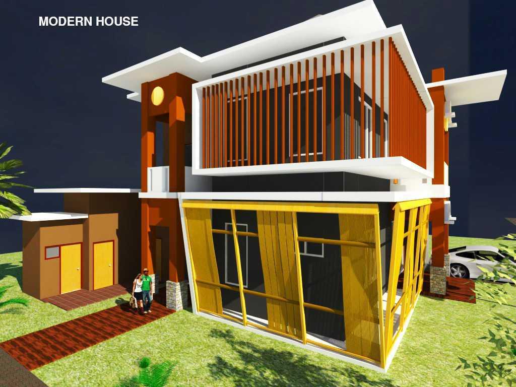 Rahman Efendi Private House 4 Bekasi, Tambelang, Bekasi, Jawa Barat, Indonesia Bekasi, Tambelang, Bekasi, Jawa Barat, Indonesia View-1 Modern Half Render 31595