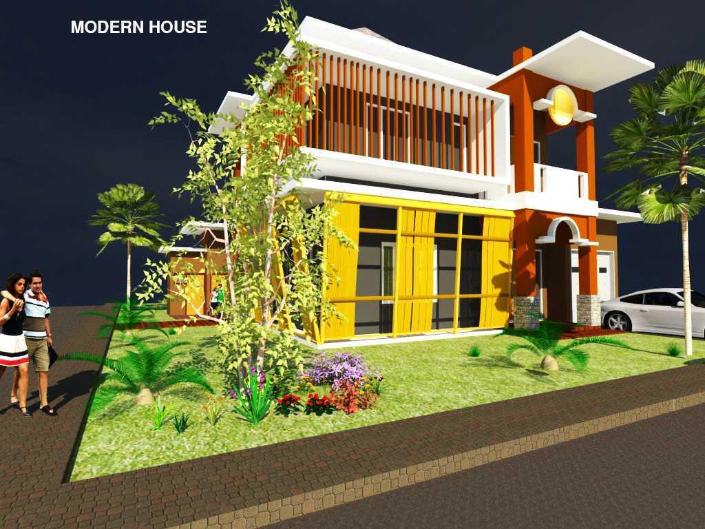 Rahman Efendi Private House 4 Bekasi, Tambelang, Bekasi, Jawa Barat, Indonesia Bekasi, Tambelang, Bekasi, Jawa Barat, Indonesia View-2 Modern Half Render 31596