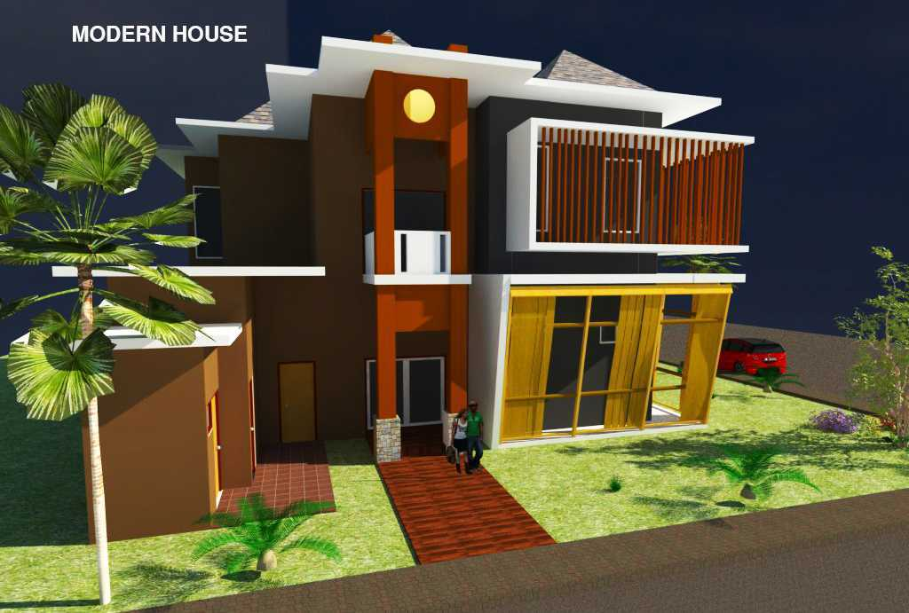 Rahman Efendi Private House 4 Bekasi, Tambelang, Bekasi, Jawa Barat, Indonesia Bekasi, Tambelang, Bekasi, Jawa Barat, Indonesia View-4 Modern Half Render 31598