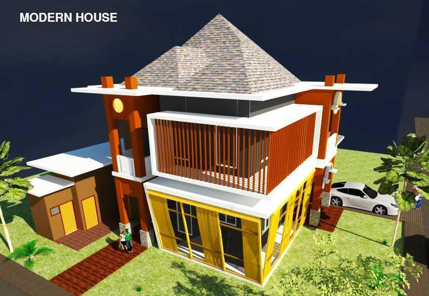 Rahman Efendi Private House 4 Bekasi, Tambelang, Bekasi, Jawa Barat, Indonesia Bekasi, Tambelang, Bekasi, Jawa Barat, Indonesia View-5 Modern Half Render 31599