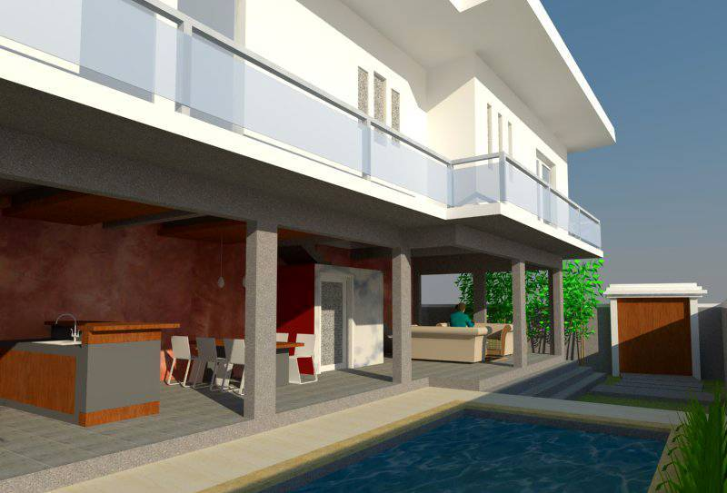 Civarch Design Studio Ramini House At Canggu Bali, Indonesia Bali, Indonesia Perspective-2 Kontemporer  5645
